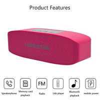 Bluetooth speakers Innovative strip Portable design bass 3D stereo effect HD phone call TF card mobile power supply Voice prompt