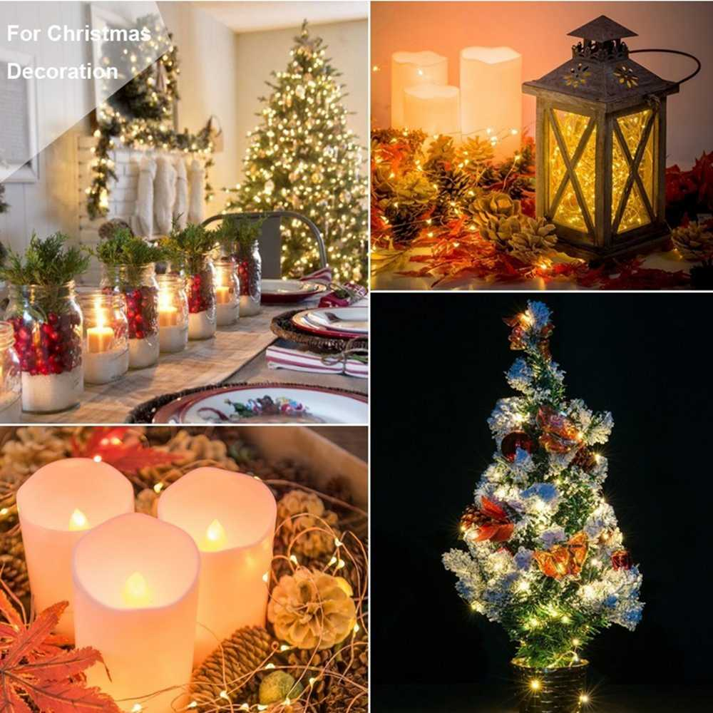 Battery USB Decortaive Led String lights 2m 3m 5m 10m Silver Copper Wire Fairy Christmas Light for Wedding Party Home Decoration