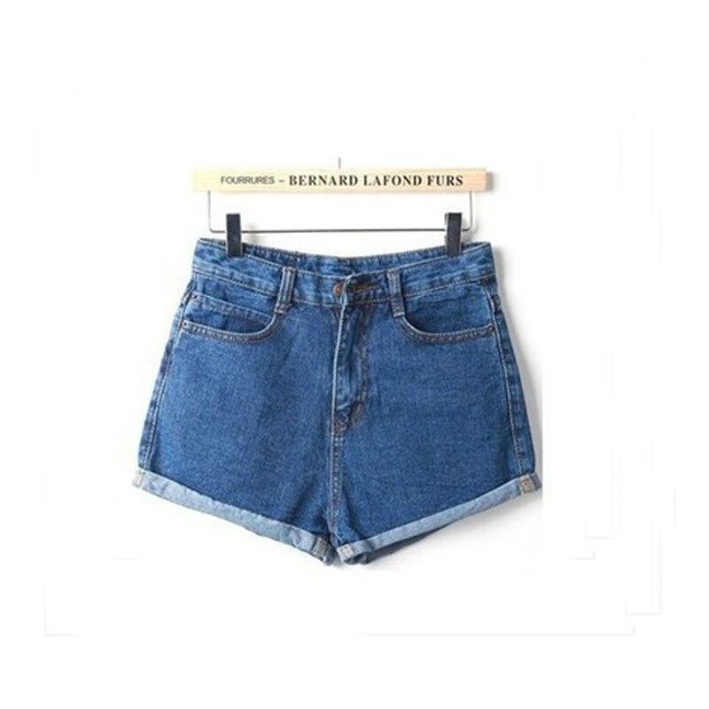 New 2016 Summer Women Blue Short Jeans Casual Plus size Slim Fit Streched Wash curling Denim Shorts Feminino Faldas 25-32 Z2119