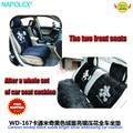 Acessórios carro Cartoon mickey camurça preta brilhante prata bordado tudo assento de carro almofada WD-167