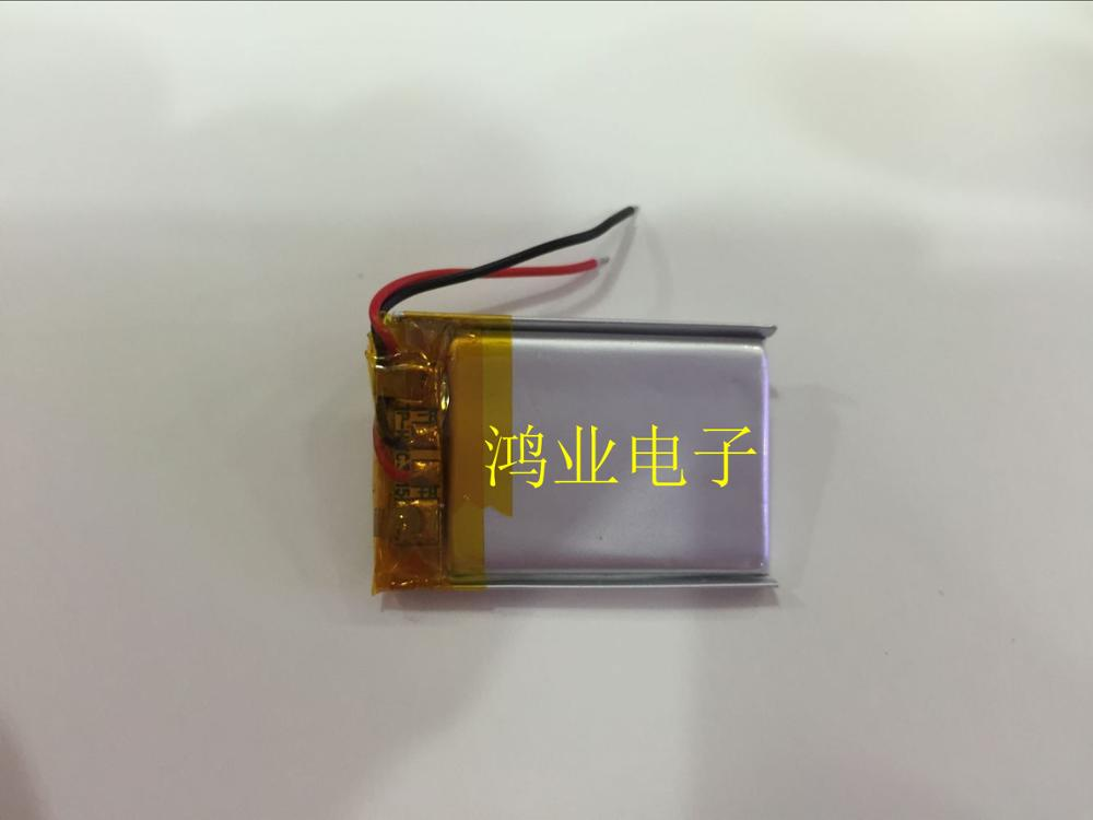 <font><b>3.7V</b></font> polymer <font><b>lithium</b></font> <font><b>battery</b></font> 202030 <font><b>100MAH</b></font> small toy MP3 Bluetooth small speaker Rechargeable Li-ion Cell image