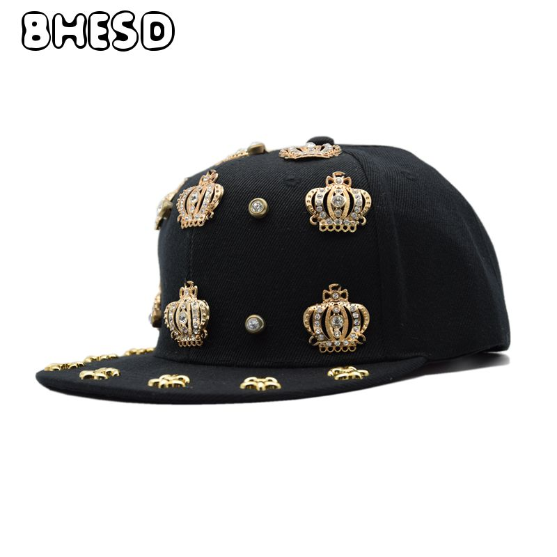 BHESD 2018 Black Crown Hip Hop Snapback Hat Men Dance Hat Hip-Hop Caps Women Street Fashion Flat Baseball Cap Gorros Bones JY695 brand bonnet beanies knitted winter hat caps skullies winter hats for women men beanie warm baggy cap wool gorros touca hat 2017