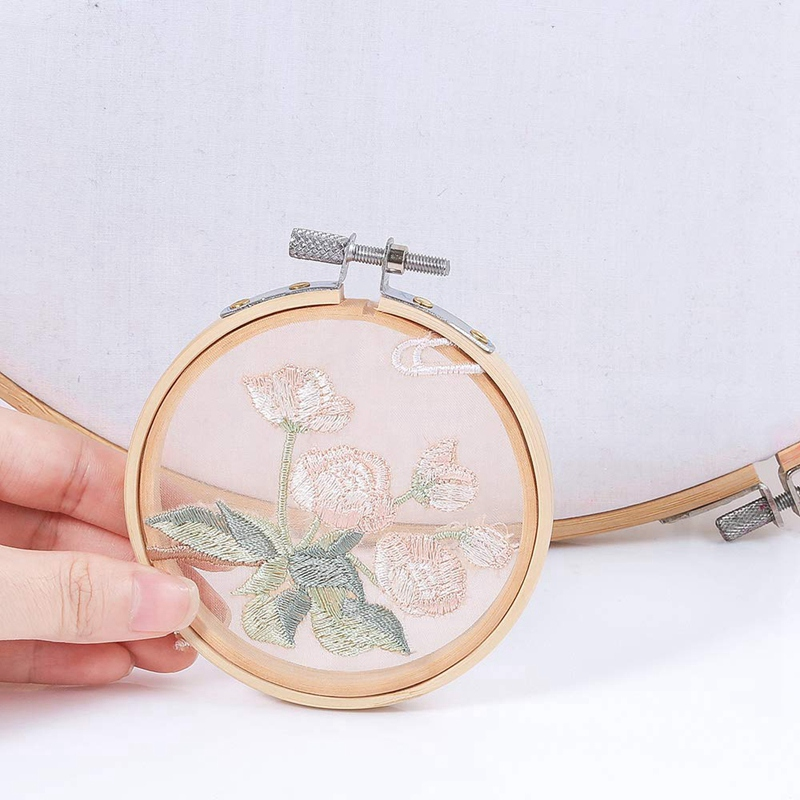 Image 3 - Hot Sale 20 Pieces 3 Inch Bamboo Embroidery Hoops Round Wooden Circle Cross Stitch Hoop Round Ring For Art Craft Handy Sewing-in Sewing Tools & Accessory from Home & Garden