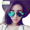 Fashion Classic Frog mirror Sunglasses Women European and American fashion Metal Frame Sunglasses Female Male Mirror Eyewear