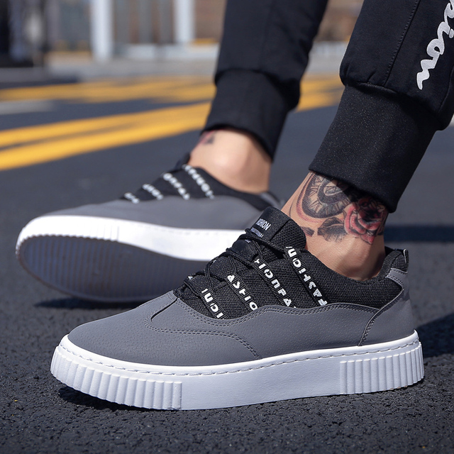 8ae546b339aa Brand Soft Casual Men Shoes New Design Autumn Fashion Sneakers Lace Up Shoes  For Men Platform Men s Shoes