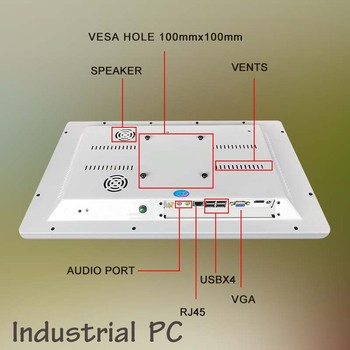 Flexible tablet 18.5 inch j1900 4G+64GB screen desktop flat touch screen all in one pc