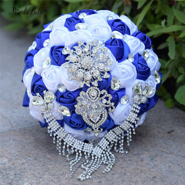 Modabelle Bouquet De Mariage Mauve Royal Blue/Purple/Black Bridal ...
