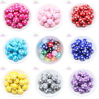Free Shipping Fashion Jewelry 12MM 14MM 16MM 18MM 20MM Resin Polka Dot Beads Chunky Resin Beads
