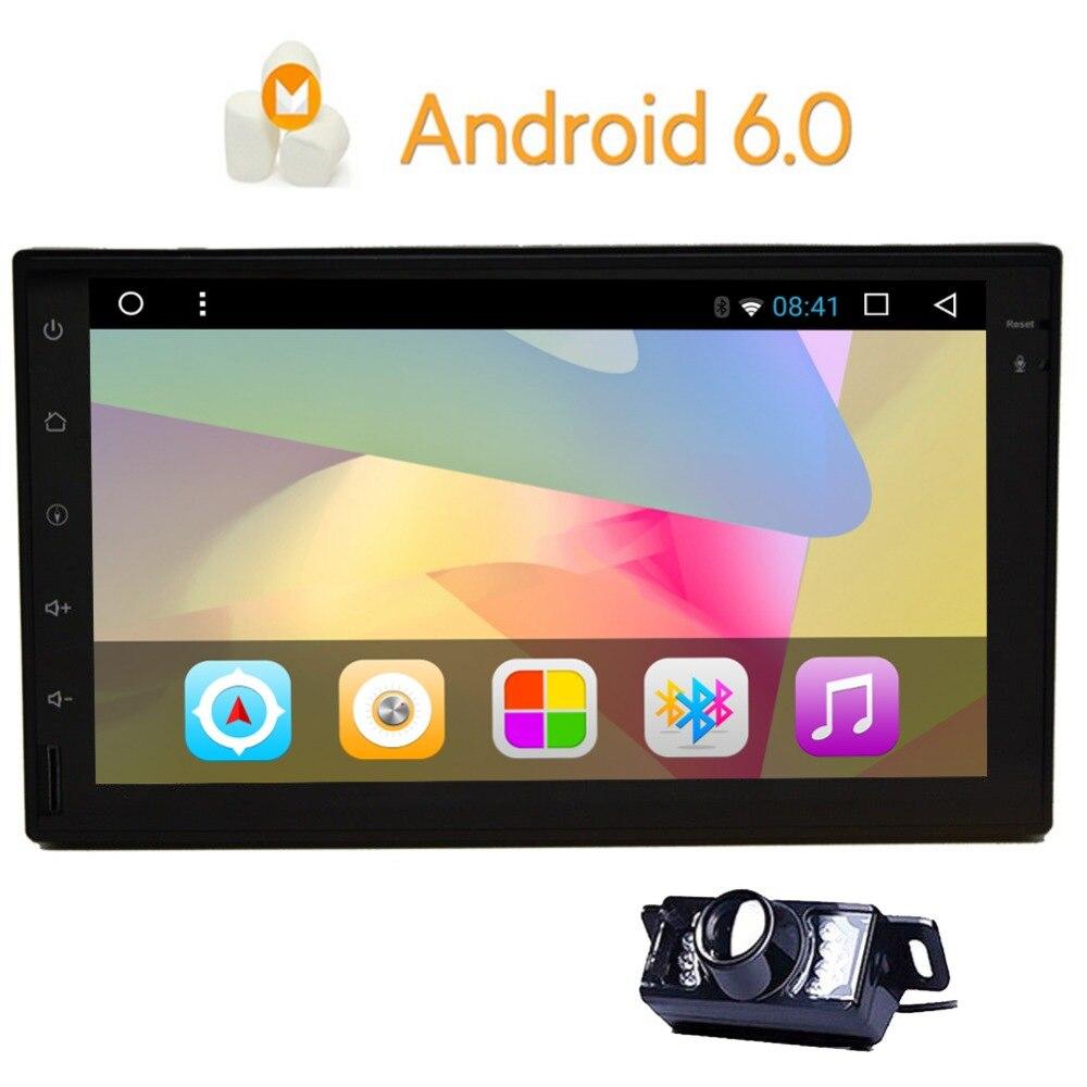 Eincar 7 écran tactile Android 6.0 Double din Qure Core pas de lecteur DVD autoradio stéréo dans tableau de bord GPS Navigation pour voiture universelle
