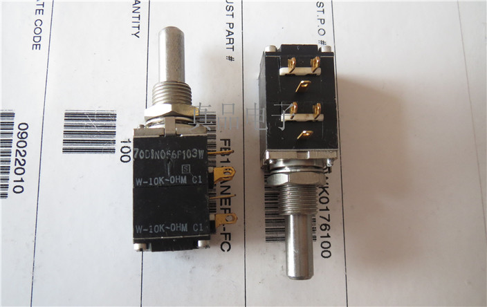 [VK] W-10K-OHM imported American AB gold foot B10KX2 B10K enthusiast potentiometer handle length 22*6MM switch