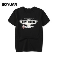 BOYUAN Plus Size M 6XL 2018 Summer T Shirt Men Short Sleeve O Neck Cotton T