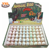 60pcs /box Cute Mini Magic Growing Dino Egg Water Hatching Dinosaur Eggs Child Interesting Novelty Toys Kids Gift (S5