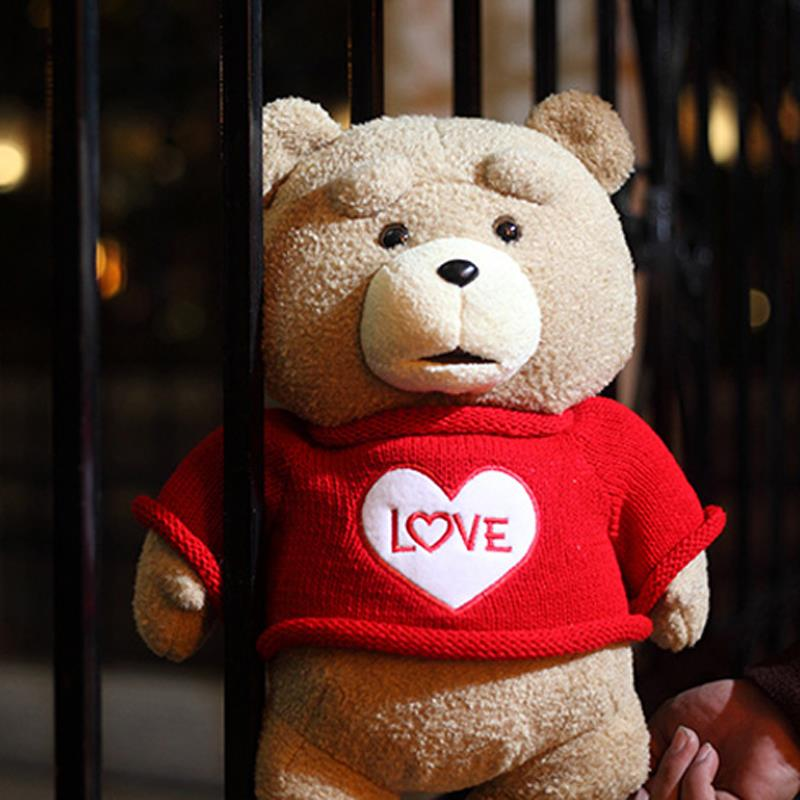 2015 The Film Teddy Bear Ted 2 Plush Toys In Apron England Love Sweater 48CM Soft