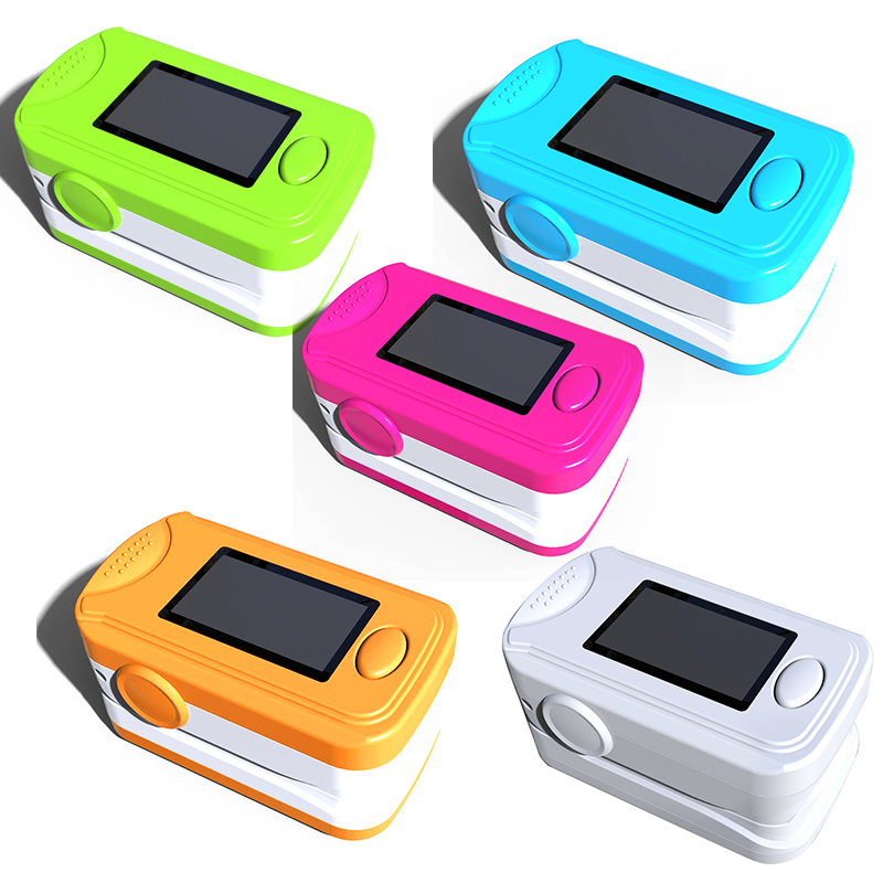 5 Pcs Fingertip Pulse Oximeter Oxymeter SPO2 Oxygen Monitor De Dedo Pulso OLED Display Pulse oximeters PRO-8B5 color oled wrist fingertip pulse oximeter with software spo2 monitor