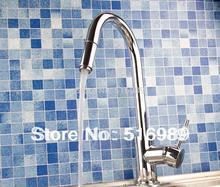 Спрей Поток Soild Латунь Палуба Гора Одной Ручкой Extensible Кухонная мойка Кран Pull Out Спрей Mixer mak11