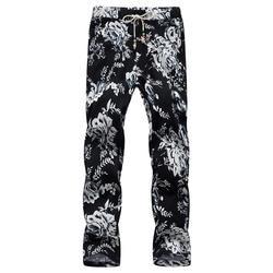 Большой размер S-6XL тянуть веревку цветок брюки летние новые повседневные мужские брюки
