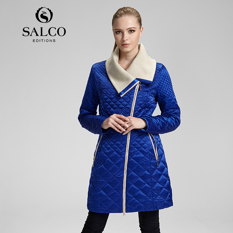 ФОТО SALCO Free shipping new women's 2016 European and American fashion ladies embroidered padded jacket and long sections