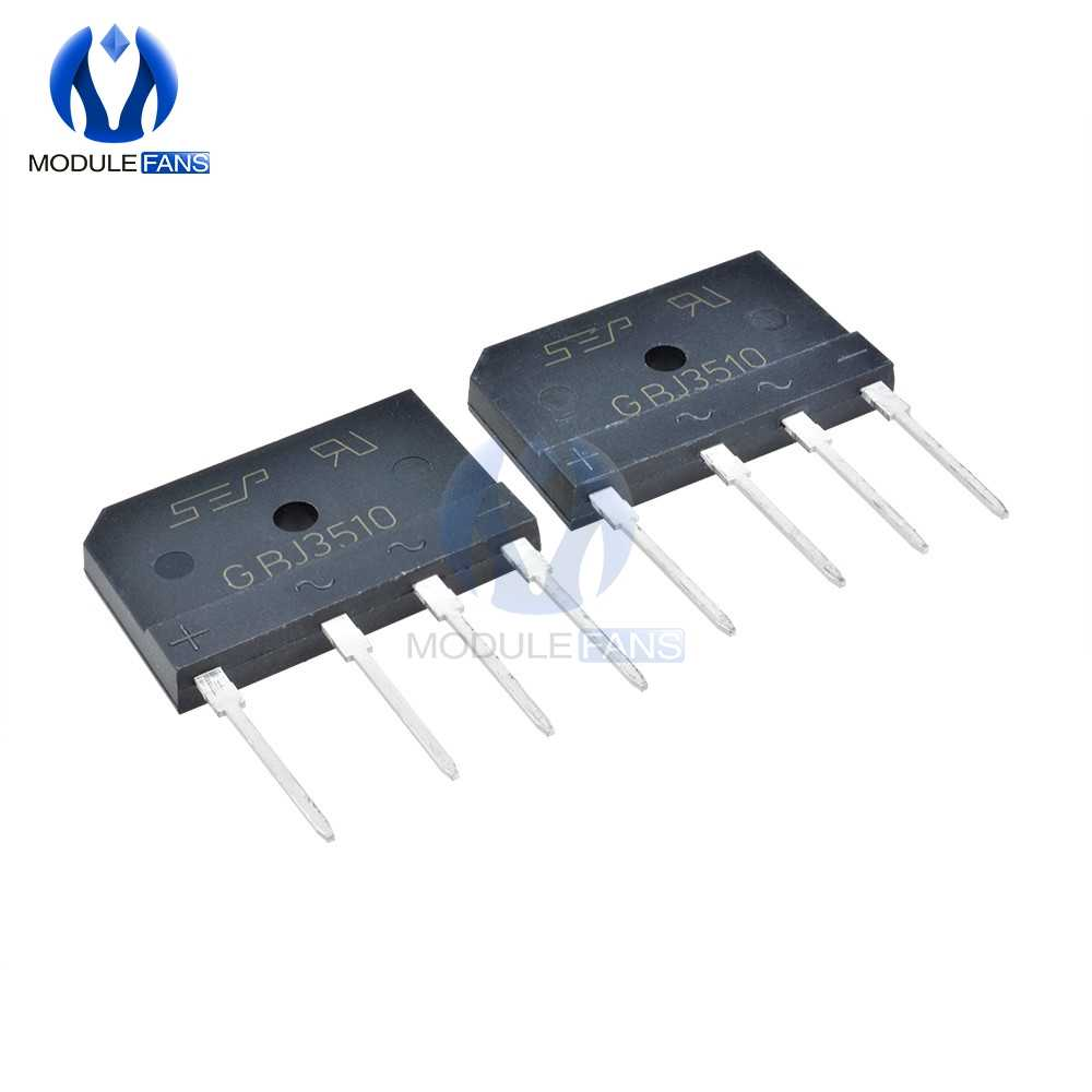 5PCS Original GBJ3510 1000V 35A Diode Bridge Rectifier Single Phase Bridge Rectifier Diy Electronic Through Hole