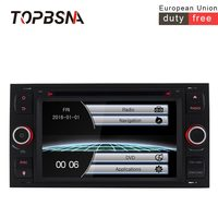 TOPBSNA Car multimedia Player For Ford Mondeo S max Focus C MAX Galaxy Fiesta transit Fusion Connect kuga 2 din Car Radio Stereo