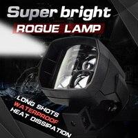 Motorcycle Led Car Working Light External Scooters 40W Super Bright Led Light Fog Spot White Headlight High Power 12V 24V