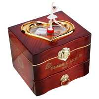 Dancing Ballerina Music Box Plastic Jewellery Box Girls Carousel Hand Crank Music Box Mechanism Gift