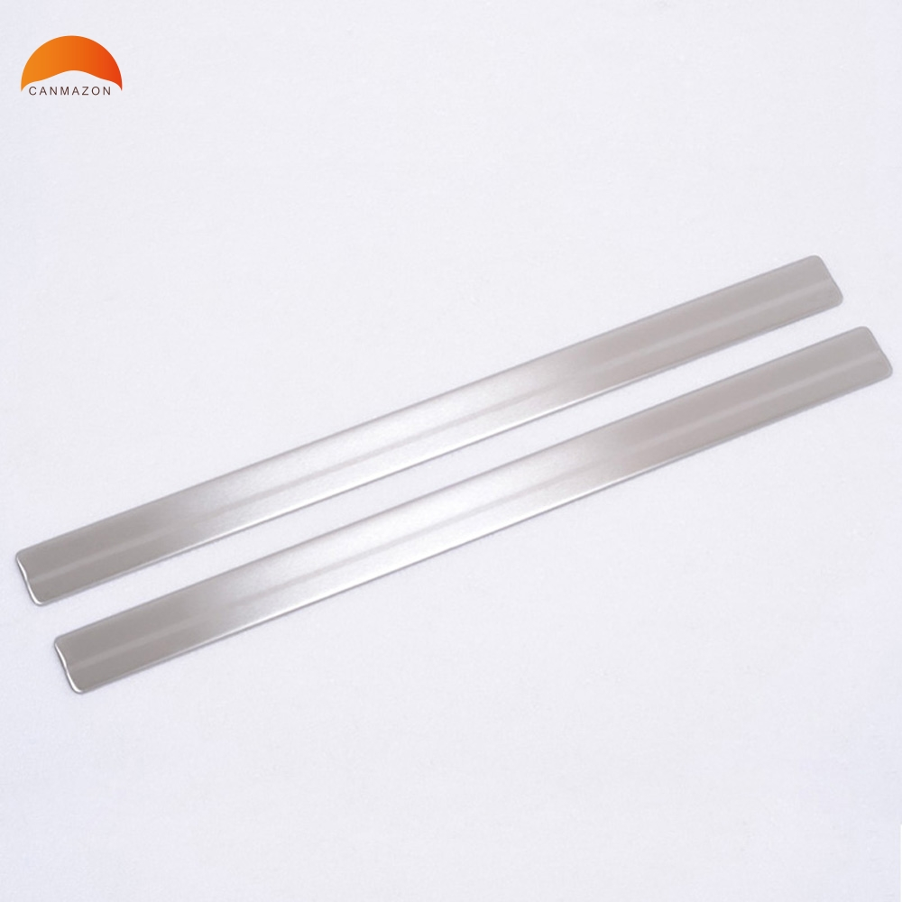 For Nissan Juke 2010 2011 2012 2013 Stainless Steel Door Sills Scuff Plate welcome pedal Threshold Tread Trims Car Accessories stainless steel interior door sills scuff plates guard threshold strip plate welcome pedal 3d sticker for audi a5 2010 2016