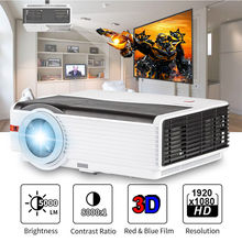 CAIWEI Digital LED Home Theater Projector Multimedia Video Game Movie LCD Proyector 5000 Lumens Support HD 1080P HDMI VGA Beamer