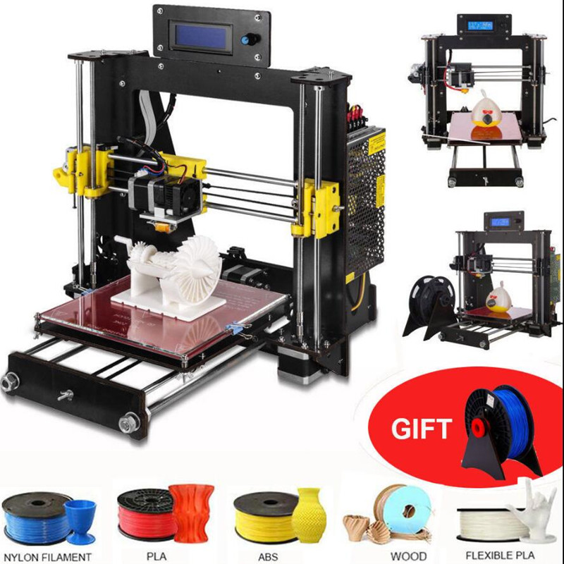 zrprinting 2018 NEW 3D Printer Prusa i3 Reprap MK8 DIY Kit MK2A Heatbed LCD Controller недорго, оригинальная цена