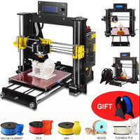 zrprinting 2018 NEW 3D Printer Prusa i3 Reprap MK8 DIY Kit MK2A Heatbed LCD Controller