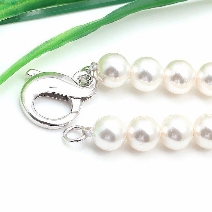 925 fermoir à homard en argent Sterling nouveauté chiffres 8 résultats de bijoux de connecteur pour collier de perles et Bracelet SC-CZ052 - 4