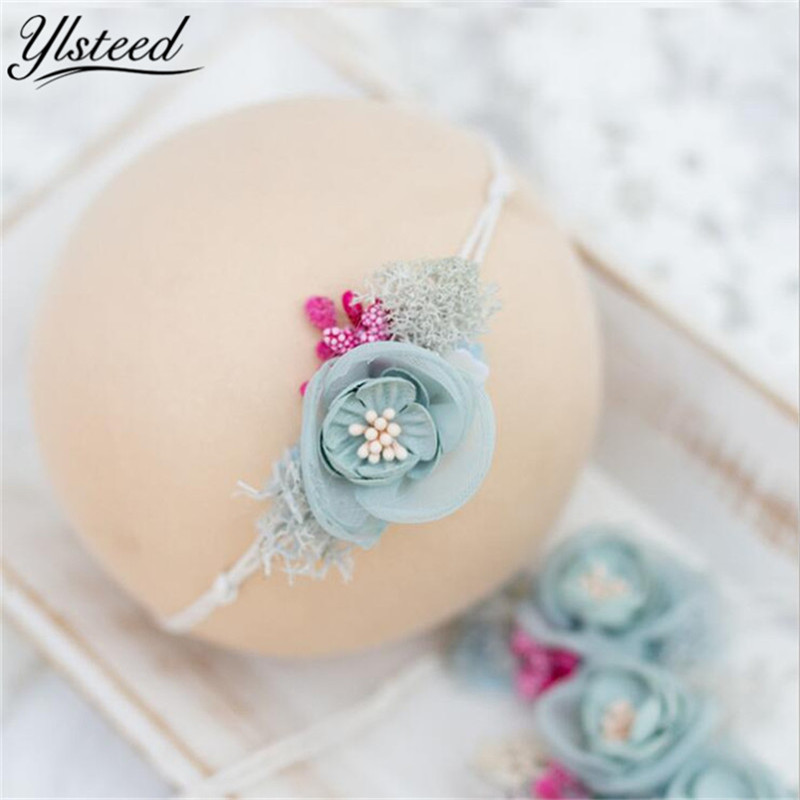 Baby Photography Headband Newborn Photography Props Infant Shooting Baby Photo Props Flower Hair Accessories стоимость