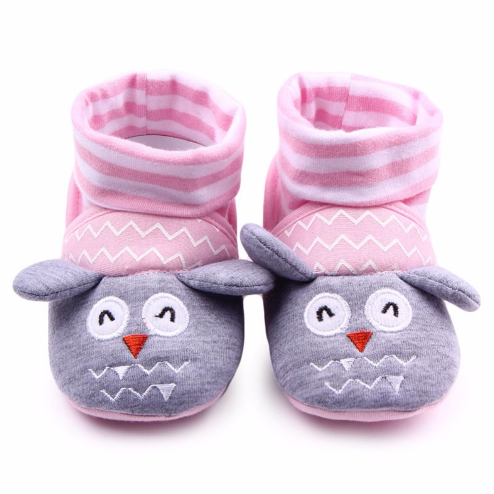 Winter Socks Warm Newborn Baby Toddler Girls Cartton Anti-Slip Socks Shoes Slipper Prewalker 0-12M