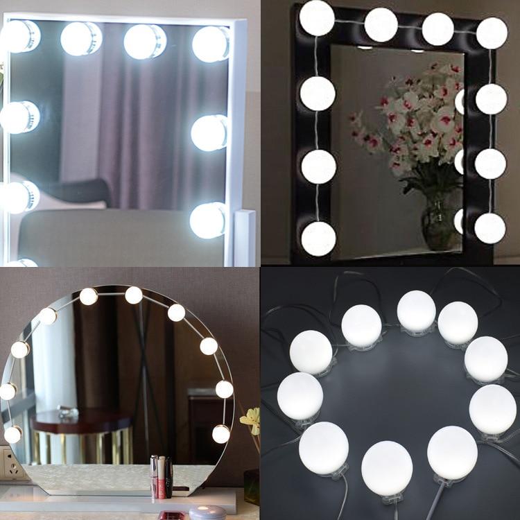 hollywood LED Light Bulbs headlights led makeup lamp Kit AC110V 220V Cosmetic Lighted Make up Mirrors Bulb Adjustable Lights
