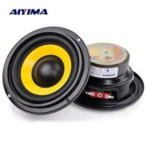 Image 1 - AIYIMA 2 шт. 4 дюймовый низкочастотный динамик, портативная мини стереоколонка s сабвуфер, Полнодиапазонный Автомобильный громкоговоритель, 4 Ом/8 Ом 20 Вт