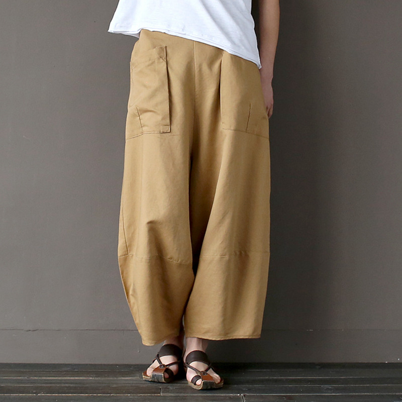 Popular Yellow Linen Pants-Buy Cheap Yellow Linen Pants lots from ...