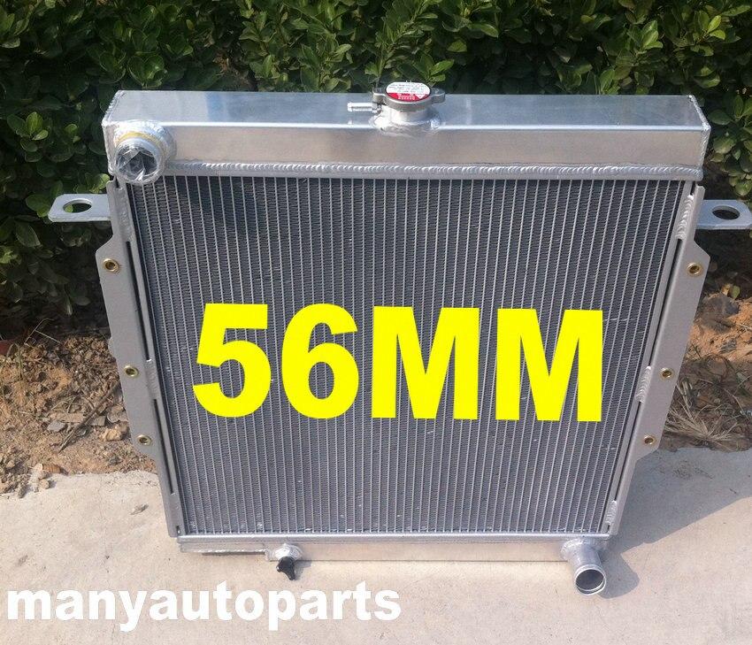 FOR TOYOTA LandCruiser Land Cruiser 75 Series HZJ75 1HZ Manual Aluminum Radiator