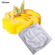 SHENHONG Flower Ring Dessert Chocolate 3D Cake Mold Art Mousse Silicone Mould Moule Baking Pastry Silikonowe Moule Pan