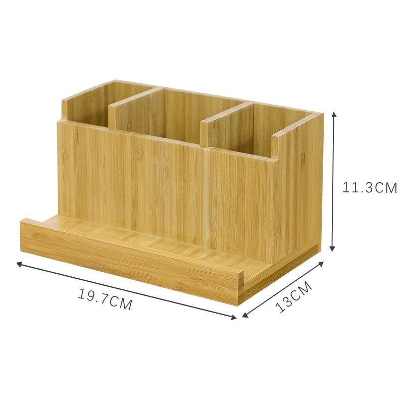 Boîte de rangement en bambou multifonction de bureau Simple petite boîte de rangement de fournitures de bureau fraîches