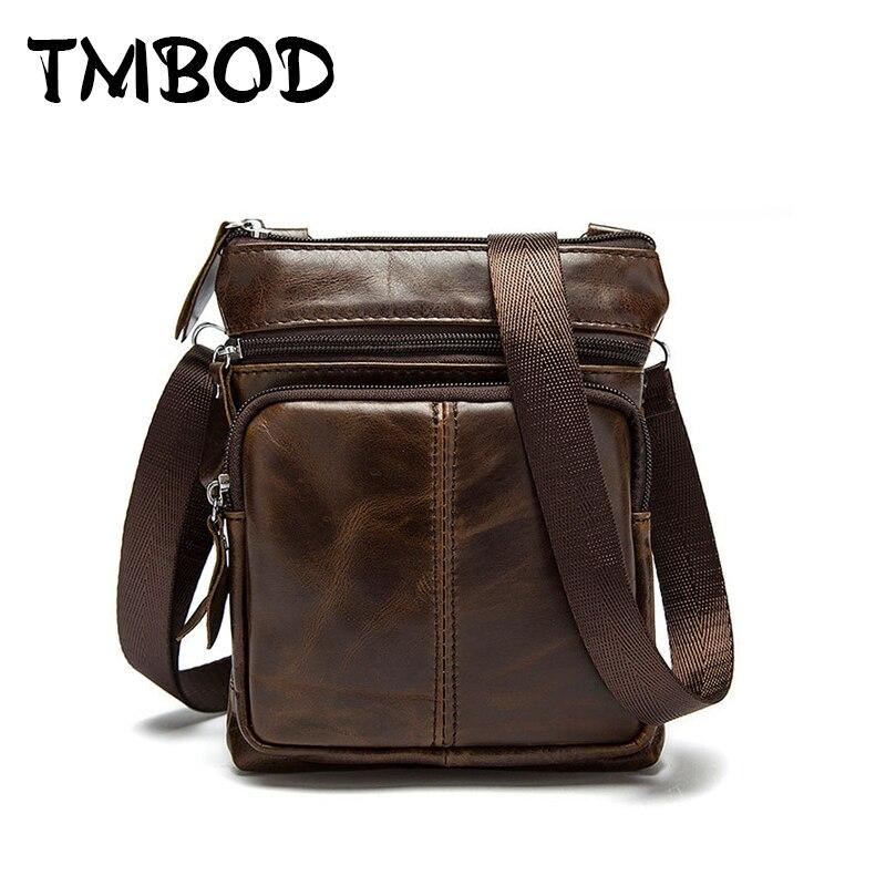 Hot 2018 men design casual business small genuine leather handbags male messenger bags vintage crossbody shoulder bag an992
