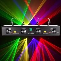 (Корабль из США) 4 объектива 4 Луч RGPY диско DJ Лазерный свет вечерние для сцены и вечеринок шоу DMX 7CH 460 МВт