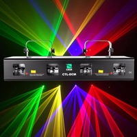 (Ship from USA ) 4 Lens 4 Beam RGPY DJ Disco Laser Light Stage Party Show DMX 7CH 460mW