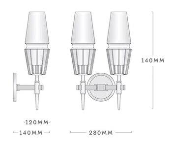 Nowoczesne Nordic Kinkiet Kryształ Złota żelaza Zamontowane światła LED Oświetlenie Wewnętrzne Dla Restauracja Salon Sypialnia Korytarz