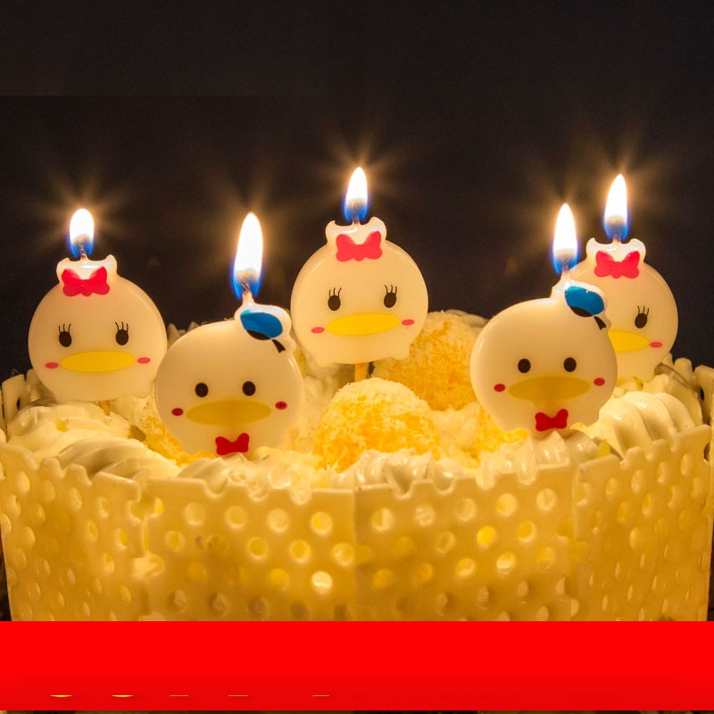 2016 Cute Little Duck Cartoon Happy Birthday Candles