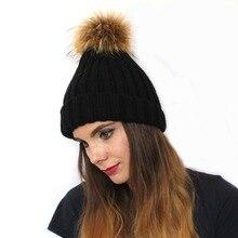 Linhaoshengyue новые меховые шляпы с настоящим мехом Зимние меховые женские шапки