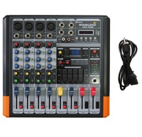 STARAUDIO Pro 4 Channel 2000W Live Studio DJ Stage Amplifier Powered Mixer with MP3 Bluetooth USB SD 16 DSP SMX 4000B