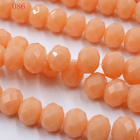 FLTMRH 145PCS/LOT Crystal Beads 3x4mm Rondelle Glass Beads Charmly Clear Created DIY Jewelry Faceted Glass Crystal Beads