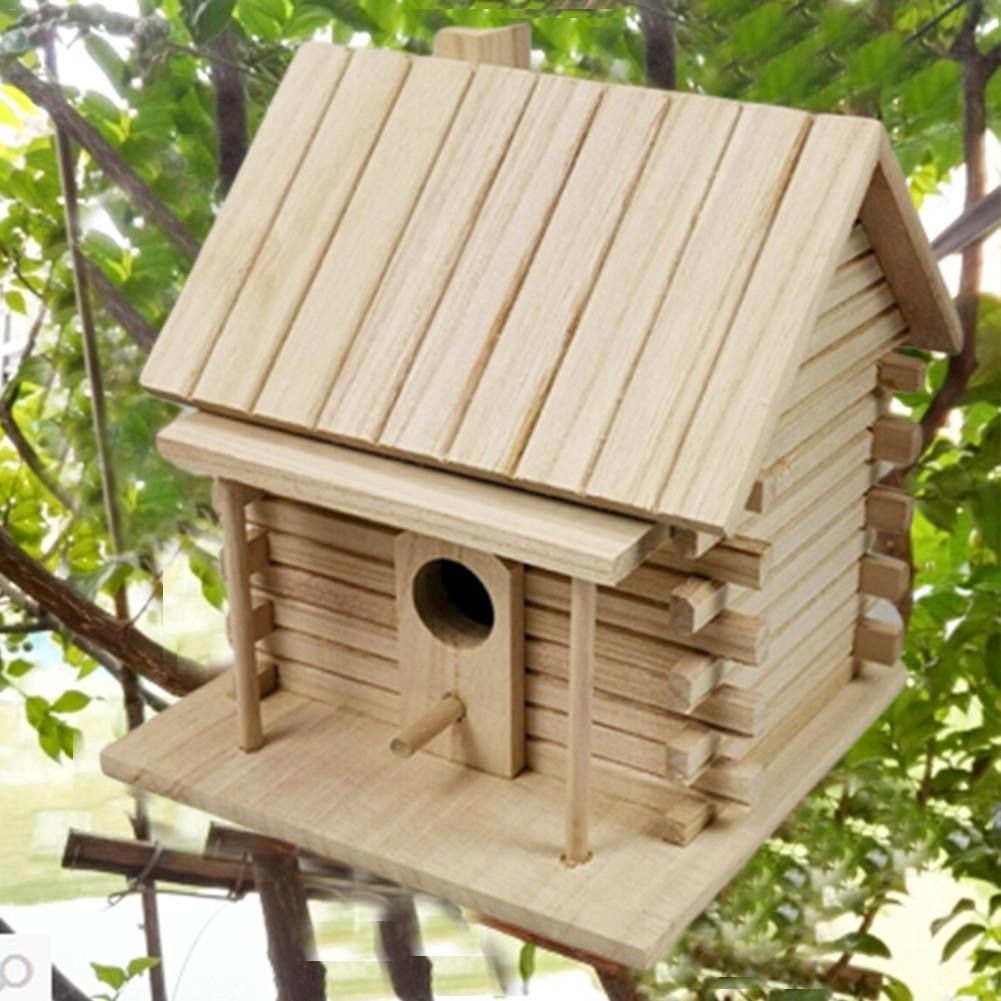 Creative Bird House Wall-mounted Wooden Nest Dox Nest House Bird House Bird Box Wooden Box Cage Decoration Garden Ornament