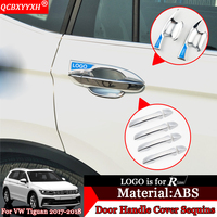 QCBXYYXH Car Styling ABS Car Door Handle Cover Box Sequins Decoration Handle Bowl Frame Auto Accessories