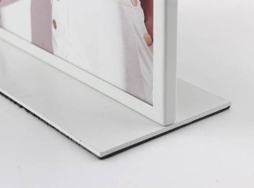 3ca6d3d45 A4 Dupla-face De Publicidade Mesa de Metal Carrinho De Exposição Do Cartaz  Stand Placa