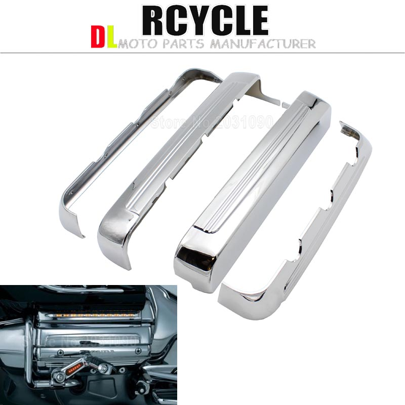 Motorcycle engine decorative cover frame decoration for Honda Gold Wing GL1800 F6B Trike 2001 2016 Valkyrie